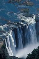 Zambezi River Flowing over Victoria Falls, Mosi-Oa-Tunya National Park, Zambia Fine Art Print
