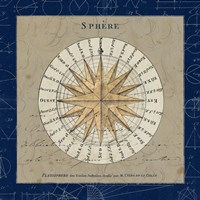 Sphere Compass Blue Fine Art Print