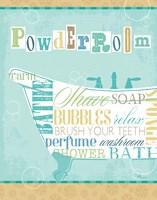 Bathroom Words Tub I Fine Art Print