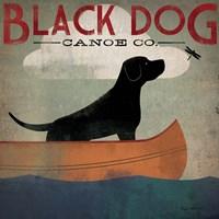 Black Dog Canoe Fine Art Print