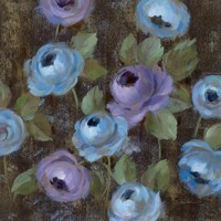 Blue Damask II Framed Print