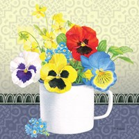 Blue Pansy IV no Border by Beth Grove - various sizes, FulcrumGallery.com brand
