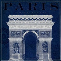 Blueprint Arc de Triomphe Fine Art Print