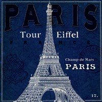 Blueprint Tour Eiffel Fine Art Print