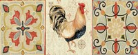 Bohemian Rooster Panel II by Daphne Brissonnet - various sizes