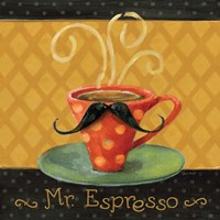 Cafe Moustache III Square Fine Art Print