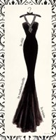 Couture Noir Original III with Border Fine Art Print