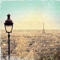 Eiffel Landscape Letter Blue I by Sue Schlabach - various sizes