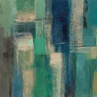 Emerald Fields Square I Fine Art Print