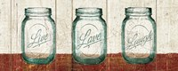 Flea Market Mason Jars Panel II Table Fine Art Print