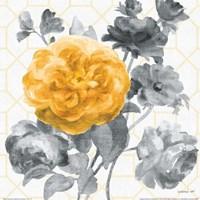 Geometric Watercolor Floral II Fine Art Print