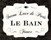 Le Bain Luxe II Framed Print