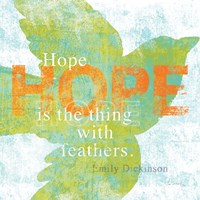 Letterpress Hope by Sue Schlabach - various sizes