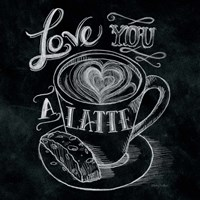 Love You a Latte  No Border Square Framed Print