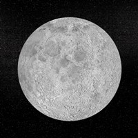 Artists concept of a full moon in the universe at night Fine Art Print