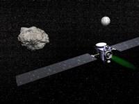 Dawn robotic spacecraft orbiting Ceres and Vesta by Elena Duvernay - various sizes, FulcrumGallery.com brand