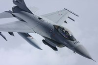 Close View of F-16 Fighting Falcon of the Norwegian Air Force Fine Art Print