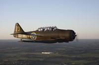 North American T-6 Texan trainer warbird in Swedish Air Force colors by Daniel Karlsson - various sizes
