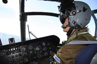 Pilot in the cockpit of a CH-46 Sea Knight helicopter of the Swedish Air Force by Daniel Karlsson - various sizes