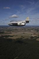 Saab J 29 jet fighter flying over landscape by Daniel Karlsson - various sizes
