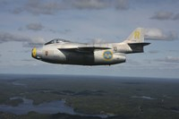 Saab J 29 vintage jet fighter of the Swedish Air Force Historic Flight by Daniel Karlsson - various sizes