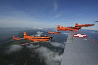 Swiss Air Force display team, PC-7 Team, flying the Pilatus PC-7 turboprop trainer aircraft by Daniel Karlsson - various sizes