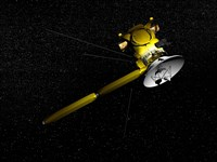 The Cassini spacecraft in orbit by Elena Duvernay - various sizes