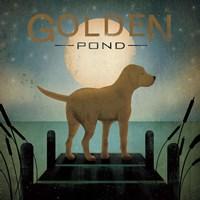Moonrise Yellow Dog by Ryan Fowler - various sizes
