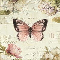Marche de Fleurs Butterfly I by Lisa Audit - various sizes