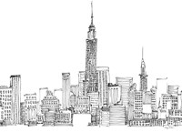 New York Skyline Crop Fine Art Print
