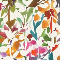 Pink Garden Square II White by Wild Apple Portfolio - various sizes