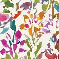 Pink Garden Square III White by Wild Apple Portfolio - various sizes