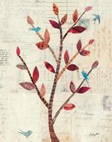 Red Leaf Tree no Border Fine Art Print