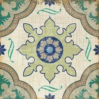 Santorini Tile I Fine Art Print