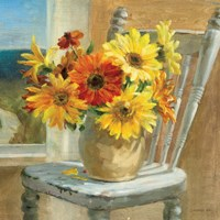 Sunflowers by the Sea Crop by Danhui Nai - various sizes