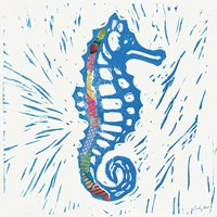 Sea Creature Sea Horse Color by Courtney Prahl - various sizes, FulcrumGallery.com brand