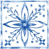 Tile Stencil I Blue by Anne Tavoletti - various sizes