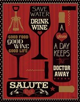 Wine Words II Fine Art Print