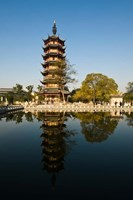 China, Changzhou, Red Plum Park Pagoda Fine Art Print