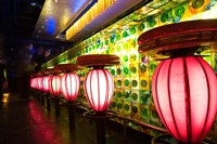 China, Shanghai. Bar, Xin Tian Di district. Fine Art Print