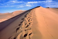 China, Dunhuang, Desert winds, Footprints Fine Art Print