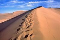 China, Dunhuang, Desert winds, Footprints Fine Art Print