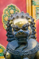 Bronze Lion, The Forbidden City, Beijing, China Fine Art Print