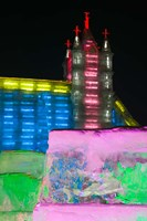 Close up of Snow Sculpture, Ice and Snow World Festival, China Fine Art Print