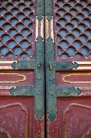 Hall of Supreme Harmony-door detail, The Forbidden City, Beijing, China by Walter Bibikow - various sizes