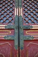 Hall of Supreme Harmony-door detail, The Forbidden City, Beijing, China Fine Art Print