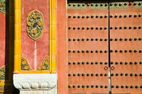 Inner Courtyard doors, The Forbidden City, Beijing, China Fine Art Print