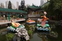 Wong Tai Sin Temple, Wong Tai Sin District, Kowloon, Hong Kong, China Fine Art Print