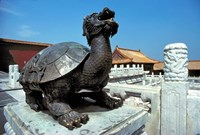 China, Beijing, Forbidden City, Turtle statue Framed Print