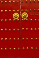 Red Gates by Forbidden City, Beijing, China by Walter Bibikow - various sizes